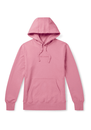 Aimé Leon Dore - Logo-Embroidered Loopback Cotton-Jersey Hoodie - Men - Pink