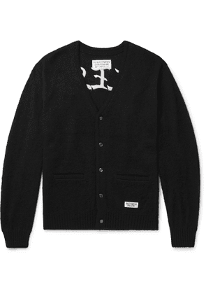 Wacko Maria - Embroidered Knitted Cardigan - Men - Black