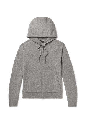 TOM FORD - Mélange Cashmere and Wool-Blend Hoodie - Men - Gray