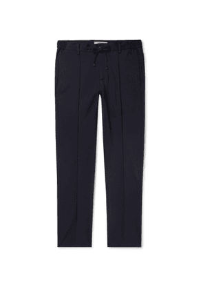 Connolly - Tapered Stretch-Jersey Drawstring Trousers - Men - Blue