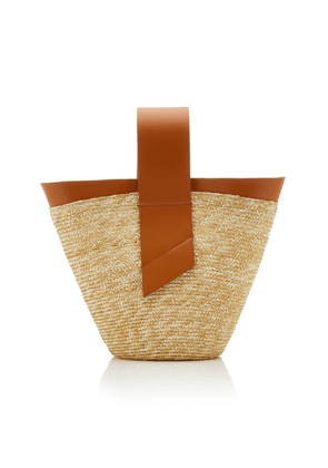 Carolina Santo Domingo Amphora Straw and Leather Top-Handle Bag