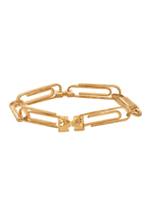 Off-White Gold Paperclip Bracelet