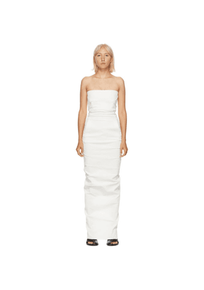 Rick Owens White Bustier Gown Dress
