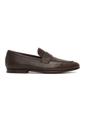Dunhill Brown Soft Chiltern Loafers