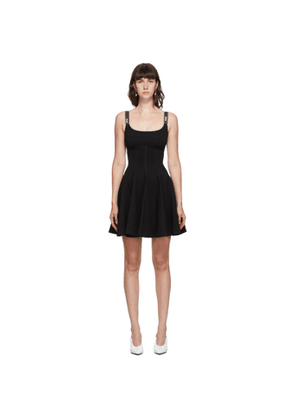 Versace Jeans Couture Black Pleated Tank Dress