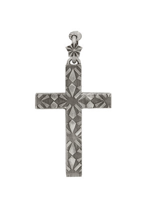 Gucci Silver Cross Single Clip-On Earring