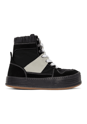 Palm Angels Black Snow High-Top Sneakers