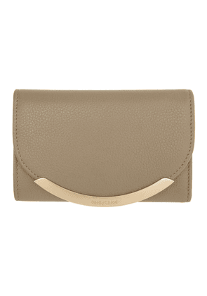 See by Chloe Grey Lizzie Compact Trifold Wallet