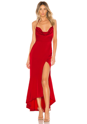 Lovers + Friends West Gown in Red. Size L.