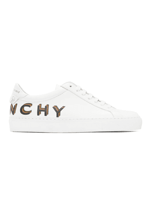 Givenchy White and Blue Urban Knots Sneakers
