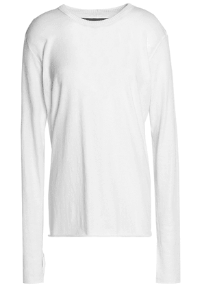 Enza Costa Cotton And Cashmere-blend Sweater Woman White Size S