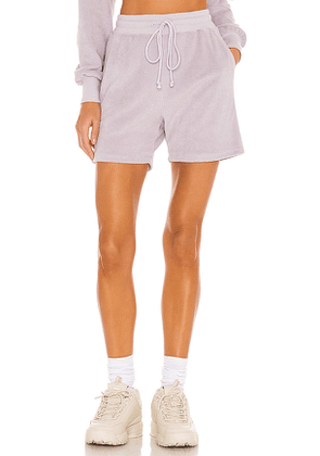 Lovers + Friends Paxton Terry Short in Lavender. Size M.