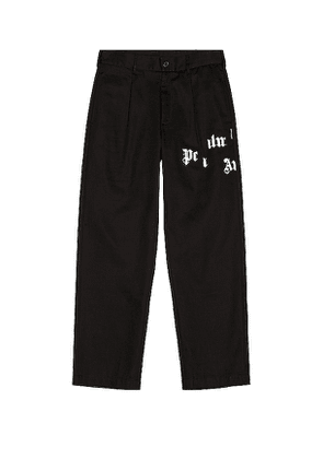 Palm Angels Broken Logo Chino in Black. Size 48, 50, 52.