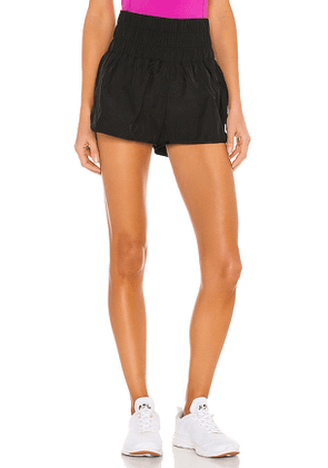 Free People X FP Movement Way Home Short in Black. Size M, S, XS.