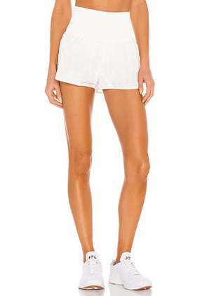 Free People X FP Movement Way Home Short in White. Size M, S, XS.