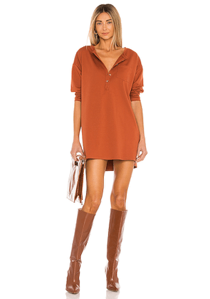 House of Harlow 1960 x REVOLVE Cotton Mini Dress in Rust. Size M, S, XL, XS, XXS.