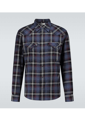 Pitt Western checked shirt
