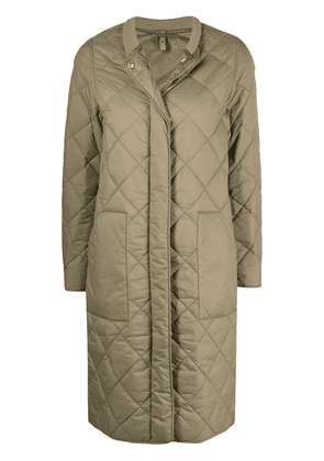 Closed diamond quilted jacket - Green