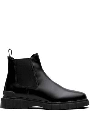 Car Shoe chunky sole ankle boots - Black
