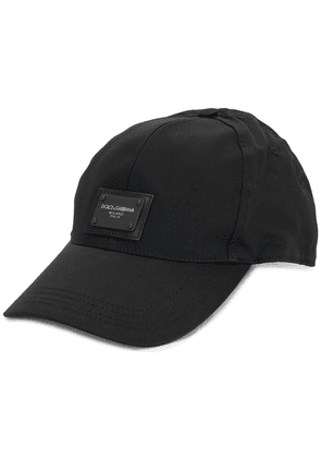 Dolce & Gabbana logo patch cotton cap - Black