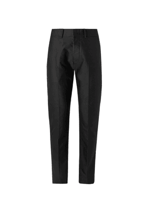 TOM FORD - Tapered Cotton-Sateen Trousers - Men - Black
