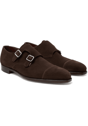 George Cleverley - Thomas Cap-Toe Leather Monk-Strap Shoes - Men - Brown