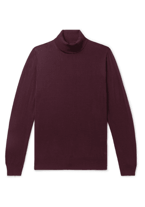 DUNHILL - Merino Wool Rollneck Sweater - Men - Burgundy