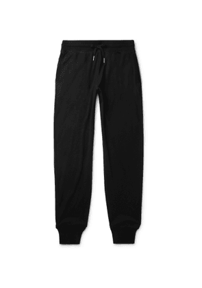 TOM FORD - Tapered Cotton, Silk and Cashmere-Blend Sweatpants - Men - Black
