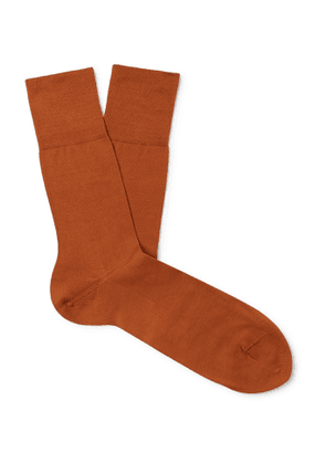 FALKE - Tiago City Fil d'Ecosse Cotton-Blend Socks - Men - Orange
