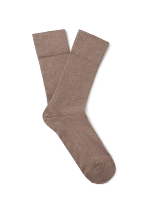 FALKE - Sensitive London Stretch Cotton-Blend Socks - Men - Brown