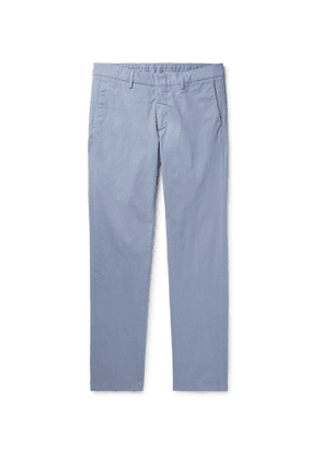 DUNHILL - Cotton-Blend Twill Chinos - Men - Blue