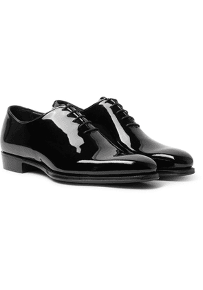 George Cleverley - James Whole-Cut Patent-Leather Oxford Shoes - Men - Black