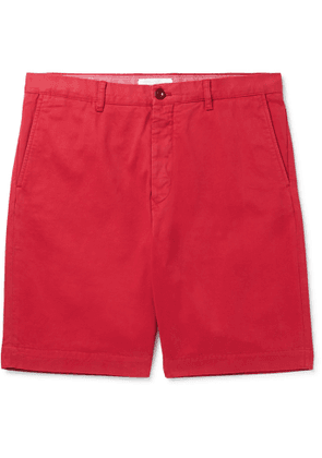 MR P. - Garment-Dyed Cotton-Twill Bermuda Shorts - Men - Red