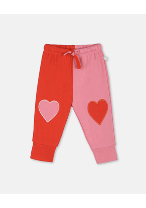 Stella McCartney Kids Pink Hearts Cotton Joggers, Unisex, Size 1-3