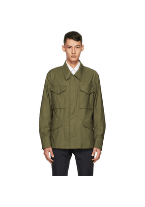 Dunhill Green Twill Field Jacket