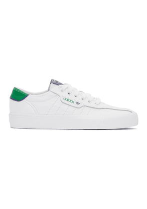 adidas Originals White and Green Love Set Super Sneakers
