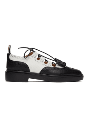 Thom Browne Black and White Ghillie Brogues