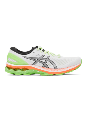 Asics White and Green Gel-Kayano 27 Lite-Show Sneakers