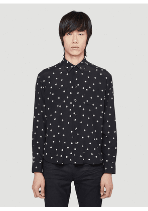 Saint Laurent Silk Shirt in Black