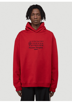 Maison Margiela Logo Hooded Sweatshirt in Red