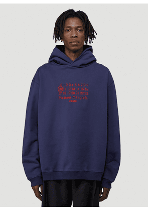 Maison Margiela Logo Hooded Sweatshirt in Purple