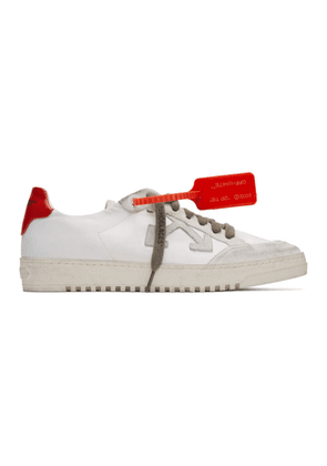 Off-White White and Red Low 2.0 Sneakers