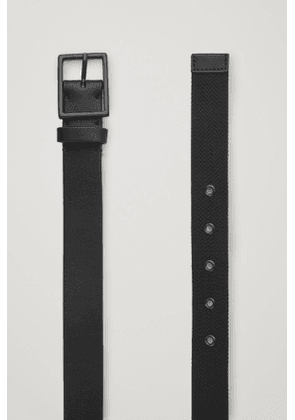 LEATHER AND WEBBING BELT