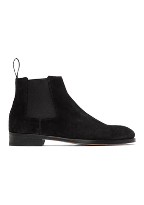 Paul Smith Black Suede Crown Chelsea Boots