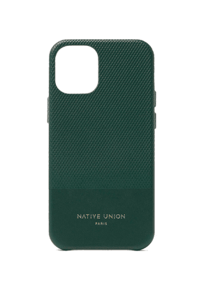 NATIVE UNION - Clic Heritage Textured-Leather iPhone 12/12 Pro Case - Men - Green