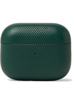 NATIVE UNION - Heritage Textured-Leather AirPods Pro Case - Men - Green