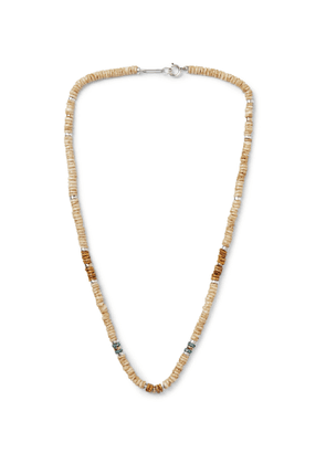 ISABEL MARANT - Moises Shell, Gold- and Silver-Tone Necklace - Men - Neutrals