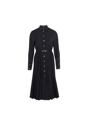 Buttoned midi shirt dress