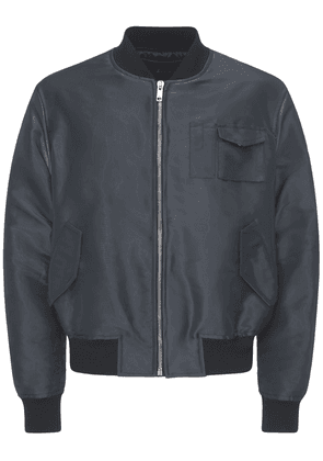 Nylon & Cotton Zip Bomber Jacket