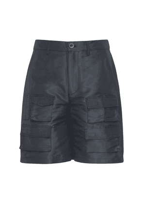 Coated Tech & Cotton Cargo Shorts